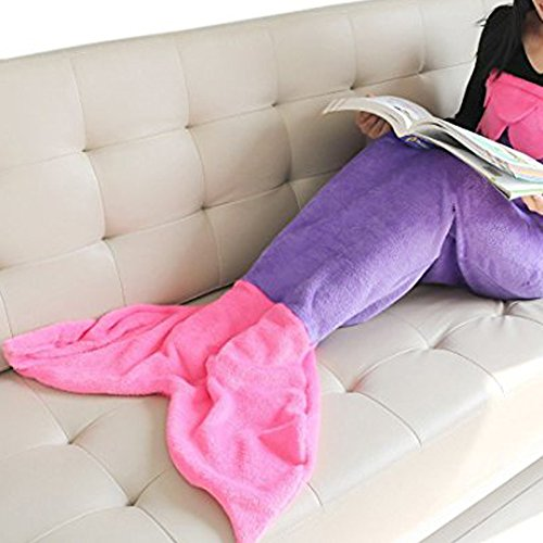 Fleecedecke Kuscheldecke Meerjungfrau Meerjungfrauenschwanz Decke Cosplay Mädchen Kostüm Fleeceschwanzflosse Schlafsack-Decke - LATH.PIN thumbnail