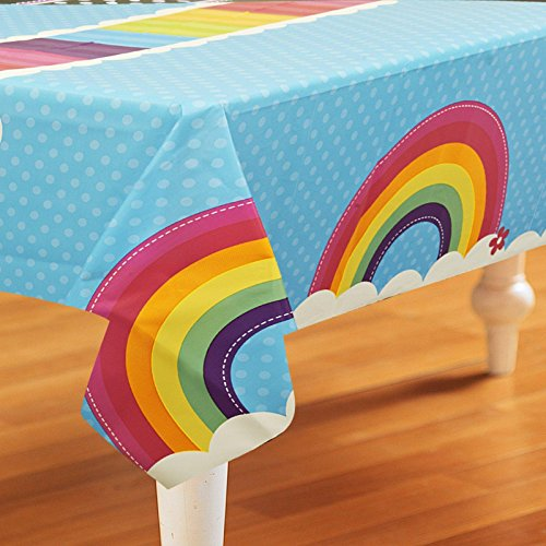 Rainbow Wishes Plastic Tablecover - 1
