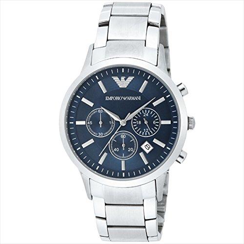 (エンポリオアルマーニ) EMPORIO ARMANI エンポリオアルマーニ 時計 メンズ EMPORIO ARMANI AR2448 クラシック 腕時計 ウォッチ シルバー/ブルー[並行輸入品]