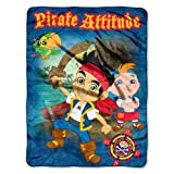 Disney, Jake and the Neverland Pirates, Pirate Attitude 46-Inch-by-60-Inch Micro-Raschel Blanket by The Northwest Company