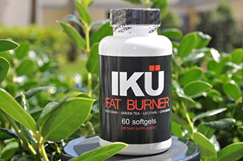 Iku Fat Burner - Chitosan 400 Mg - Lecithin 100 Mg - Green Tea Extract 60 Mg - Chromium - Vitamin E - Powerful Weight Loss Formula - 60 Softgels * Belly Fat Burner * No Side Effects. 100 % Satisfaction Guarantee