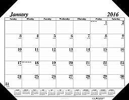 House of Doolittle 2016 Monthly Desk Pad Calendar, Economy, 18.5\