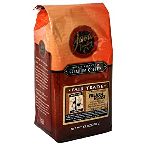 Java Trading Company Fair Trade Organic 100% French Roast Ground, 12-Ounce Bags (Pack of 3)