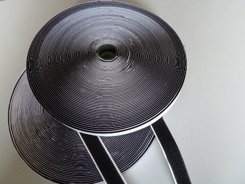 g stig online shoppen klettband schwarz 20mm selbstklebend 25m haken 25m flausch. Black Bedroom Furniture Sets. Home Design Ideas