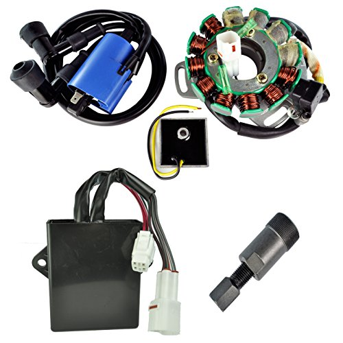 Stator External Coil Flywheel Puller Voltage Regulator Rectifier And CDI Box Kit Yamaha YFZ 350 Banshee 1995-1996 (Yamaha Banshee Voltage Regulator compare prices)