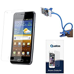 Qualitas Pack of 6 Matte Screen Protector for Lenovo A7000 + Flexible Sturdy Long Stand