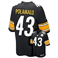 Nike Troy Polamalu Pittsburgh Steelers Youth Game Jersey - Black (XL) Ret.$70