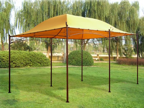 kaufen gazebo metall 4x3 m garten zelt pavillon pavillion. Black Bedroom Furniture Sets. Home Design Ideas
