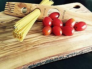 Truffle Toast Home Olive Wood Spaghetti Pasta Measure