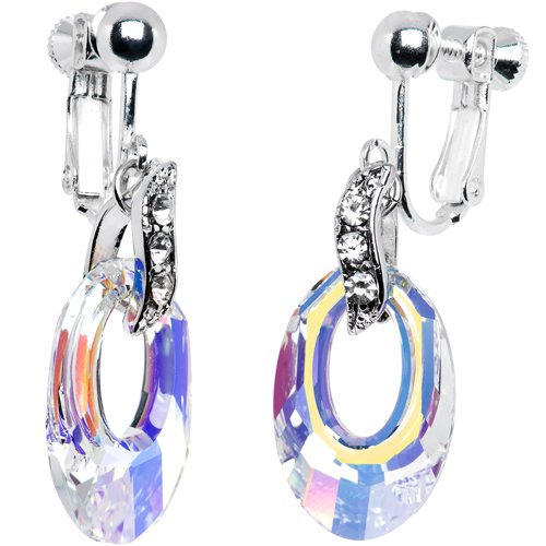 Crystal Helios Clip On Earrings MADE WITH SWAROVSKI ELEMENTS