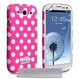 """Samsung Galaxy S3 Tasche Hei� Rosa Punkte Hart Hybrid H�lle Mit Displayschutz Und Poliertuchvon """"Yousave Accessories�"""""""
