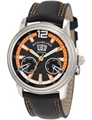 Stuhrling Original Men's 275.331557 Boardroom Saturnalia GTS Automatic Skeleton Orange Watch