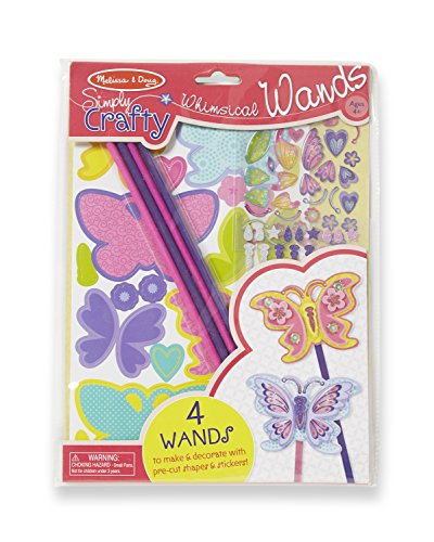 Melissa & Doug Simply Crafty Whimsical Wands Kit With Stickers Pre-Cut Shapes Foam Sticky Tabs (Make Your Own Wand compare prices)