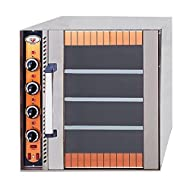 North Pro Gas CRETE Commercial Electric Oven with 3 Shelves for 4 Trays 400x600mm or 4x GN 1/1. - LxWxH: 750x775x785mm (400V-3N-AC-50Hz) (Made in Greece)