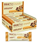 thinkThin Crunch, Caramel Chocolate Mixed Nuts, Gluten Free, 1.41-Ounce Bars (Pack of 10)