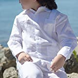 Boy's Long Sleeve Guayabera, size 8 & white.