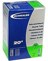 Schwalbe AV7 Chambre à air 20x1.75-2.125 Valve Schrader Noir