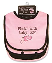Trend Lab Jersey Message Bibs (Set of 3), Photo with Baby/Pink