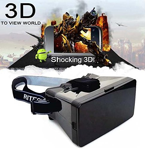 """ADVANCED LIVING Universal Virtual Reality VR 3D Video Glasses Movies Game for 3.5-5.6"""" SmartPhone Head Mount"""