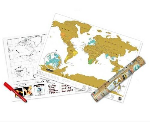 Scratch off world map gift ideas canada scratch off world map gumiabroncs Image collections