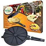 Perfect Tortilla Press 2-in-1 Tortilla and Quesadilla Maker with Griddle