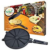 Perfect Tortilla Press 2-in-1 Tortilla Maker with Griddle - Makes Chapati, Roti, Quesadilla, Flatbread and Crepes
