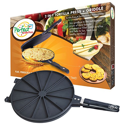 Perfect 2-in-1 Tortilla Press That Will Make the Most Delicious and Healthy Homemade Tortillas
