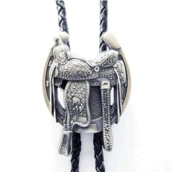 Amazon.com: Silver Saddle Horse Shoe Western Bolo Tie: Clothing