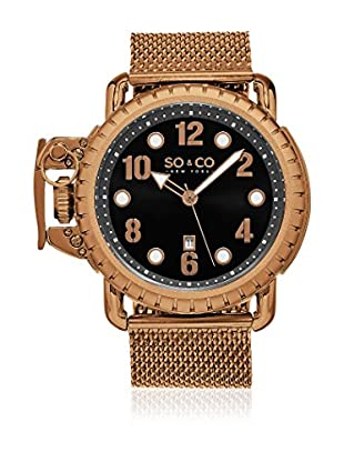 SO & CO New York Reloj con movimiento cuarzo japonés Man Right Handed 48 mm