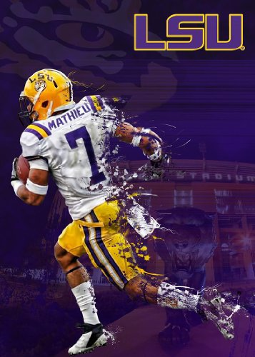 LSU Tigers Football Poster Play Maker Authentic Team Spirit Store Product
