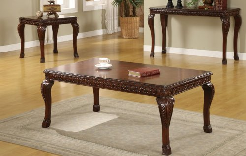 Cheap Classic Wooden End Table in Cherry Finish #PD F61231 (f6231)