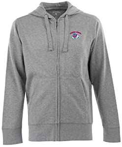 Fresno State Signature Full Zip Hooded Sweatshirt (Grey) by Antigua