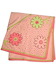 Little Me - Baby Girls Floral Receiving Blanket, Pink 31759-onesize