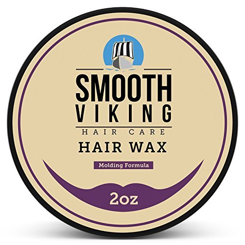 Hair Wax for Men - Hair Styling Formula for Modern Styling - Workable & Pliable Product for Added Texture & Shine - Works on All Hair Types, Styles & Lengths - 2 OZ - Smooth Viking by Smooth Viking