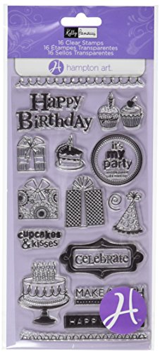 Hampton Art Happy Birthday Rubber Stamp - 1