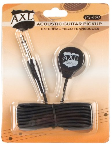 Axl Acoustic Guitar Transducer Pickup With 1/4 Jack And 9 Foot Cable