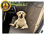 Seat Cover for Dogs & Pets to Protect Your Back Seat From Dirt When Travel Easy to Hook and Unhook with Nonslip Waterproof Rubber Backing, for Cars, Trucks and Suv