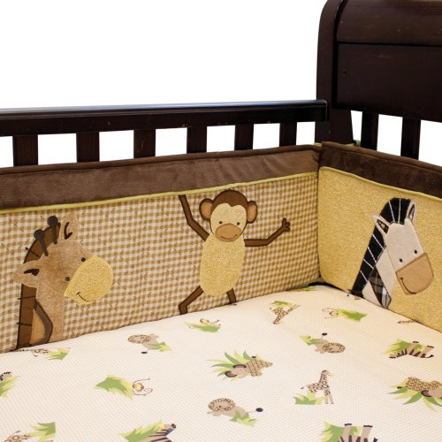 Lambs & Ivy Baby Cocoa Bumper, Chocolate/Beige front-941416
