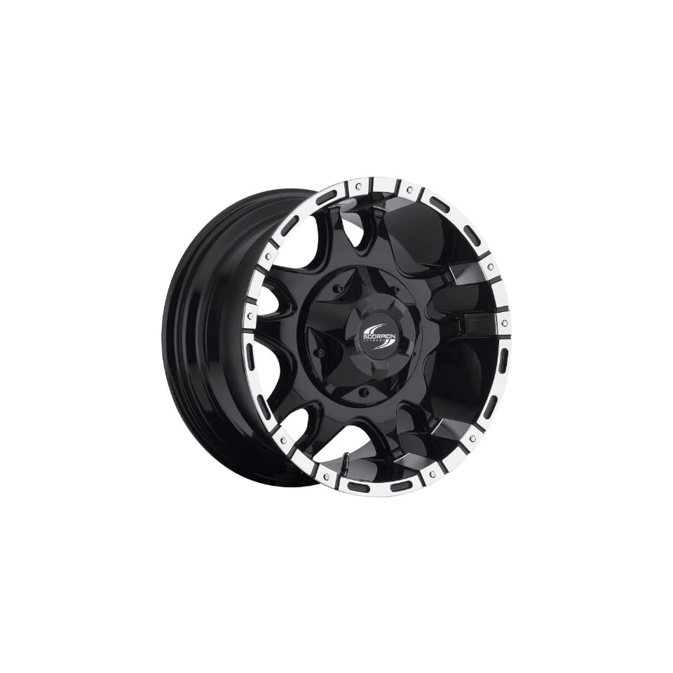 Scorpion SC7 17 Black Wheel / Rim 8x170 with a 12mm Offset and a 130.8 Hub Bore. Partnumber SC7 1798170+12BM