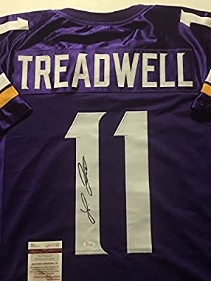 Autographed/Signed Laquon Treadwell Minnesota Vikings Purple Football Jersey JSA COA