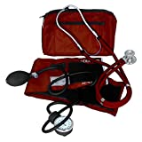 Dixie EMS Blood Pressure and Sprague Stethoscope Kit, Burgundy