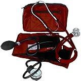 Dixie EMS Blood Pressure and Sprague Stethoscope Kit, Burgundy