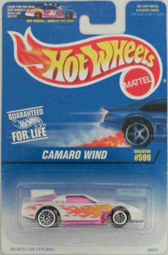 #599 Camaro Wind Dark Tinted Window Collector Mattel Hot Wheels 1:64 Scale Collectible Die Cast Car - 1