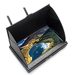 Eachine LCD5802S 5.8G 32CH 7 Inch Dual Receiver FPV Monitor System Dual Antenna with Build-in Receiver Battery