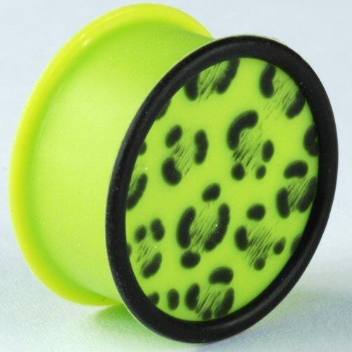 One Silicone Leopard Print Plug: 1/2