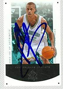 P.J. Brown autographed Basketball Card (New Orleans Hornets) 2003 SP Authentic #59