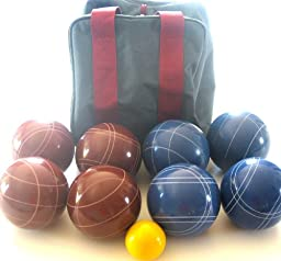 Premium Quality EPCO Tournament Set, Red and Blue Bocce Balls - 110mm. Bag included. [Misc.]