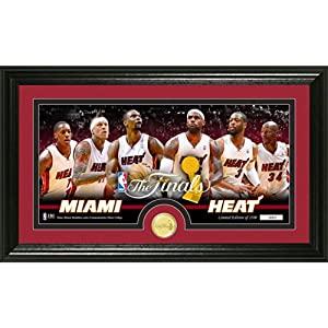 Miami Heat 2014 NBA Finals Bronze Coin Panoramic Photo Mint by Highland Mint