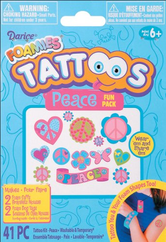Foamies Tattoos Fun Pack & Jewelry Kit: Peace