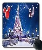 disney castle christmas wallpaper Custom?Cloth?Top?Mouse?Pad/Mouse?Mat